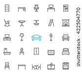 furniture icons with white... | Shutterstock .eps vector #422504770