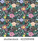 beautiful pattern in small... | Shutterstock .eps vector #422509498