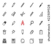 stationery painting tools icons ... | Shutterstock .eps vector #422509528