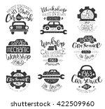 mechanic workshop vintage stamp ... | Shutterstock .eps vector #422509960