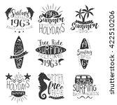 surfing holidays vintage stamp... | Shutterstock .eps vector #422510206