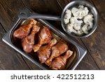 cooking. recipe. baked chicken... | Shutterstock . vector #422512213