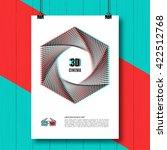 3d cinema creative concept  3d... | Shutterstock .eps vector #422512768