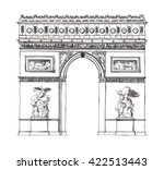 watercolor hand drawn...   Shutterstock . vector #422513443
