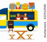food truck festival. street...   Shutterstock .eps vector #422513500