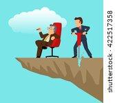 simple cartoon of a businessman ... | Shutterstock .eps vector #422517358