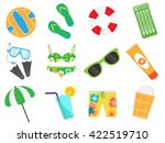 accessories for the summer... | Shutterstock .eps vector #422519710