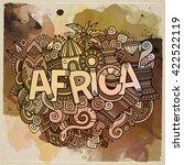 africa ethnic hand lettering... | Shutterstock .eps vector #422522119