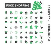 food shopping icons  | Shutterstock .eps vector #422525539