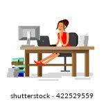 vector detailed character... | Shutterstock .eps vector #422529559
