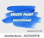 original grunge brush art paint ... | Shutterstock .eps vector #422533978