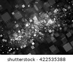 glowing squares in space... | Shutterstock . vector #422535388