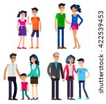 detailed character people.... | Shutterstock .eps vector #422539453
