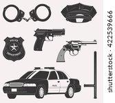set of police uniform ... | Shutterstock .eps vector #422539666