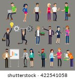 vector detailed characters... | Shutterstock .eps vector #422541058