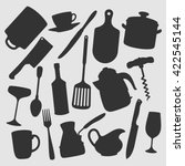 kitchen objects   vector... | Shutterstock .eps vector #422545144