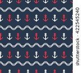 anchor seamless pattern. vector ... | Shutterstock .eps vector #422545240