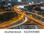 traffic in bangkok at twilight | Shutterstock . vector #422545480