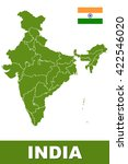 detailed india map | Shutterstock . vector #422546020