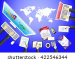 communication world internet... | Shutterstock .eps vector #422546344