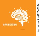 creative brain sign and... | Shutterstock .eps vector #422548354