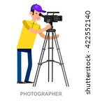 cool detailed character... | Shutterstock .eps vector #422552140
