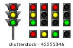 the isolated traffic lights for ... | Shutterstock .eps vector #42255346