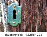 closeup of an old keyhole with... | Shutterstock . vector #422554228