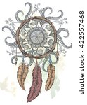 Dream Catcher Hand Drawn Vecto...