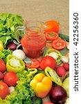 fresh vegetables | Shutterstock . vector #42256360