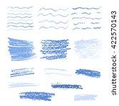 Set Of Crayon Drawn Textures....