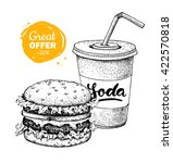 fast food special offer. vector ... | Shutterstock .eps vector #422570818