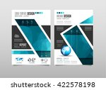 brochure template  flyer design ... | Shutterstock . vector #422578198