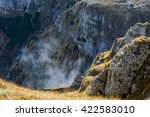 foggy mountain peak | Shutterstock . vector #422583010