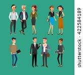 vector detailed characters...   Shutterstock .eps vector #422584189