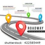 street road map for vector... | Shutterstock .eps vector #422585449