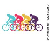 Sport Cyclist Silhouette Vecto...