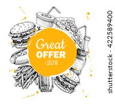 vector fast food special offer. ... | Shutterstock .eps vector #422589400
