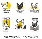 set of different logos with... | Shutterstock .eps vector #422593084