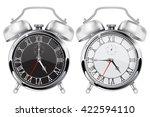 alarm clock. black and white... | Shutterstock .eps vector #422594110