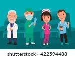 male  female doctor character... | Shutterstock .eps vector #422594488