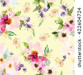 seamless pattern with flowers... | Shutterstock . vector #422604724