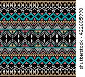 color native ethnic seamless...   Shutterstock .eps vector #422605990