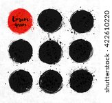 black and red grunge circles... | Shutterstock .eps vector #422610220