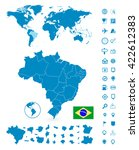 detailed map of brazil and... | Shutterstock .eps vector #422612383
