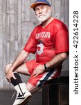 elderly age sport concept   Shutterstock . vector #422614228