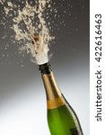 champagne bottle getting... | Shutterstock . vector #422616463
