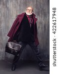 stylish santa modern concept | Shutterstock . vector #422617948
