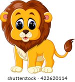 illustration of cute baby lion... | Shutterstock . vector #422620114