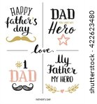 fathers day design. happy... | Shutterstock .eps vector #422623480